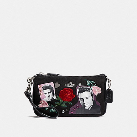 "NEW GORGEOUS BLACK ELVIS PRESLEY  /""PURSE//WALLET"